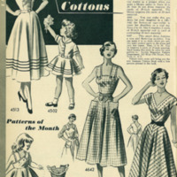 "1950 DIY Fashion Advert, ""Be Smart1, in Cottons,"" Patterns of the Month, Women & Children"